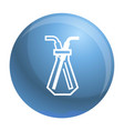 chemical glass pipette icon simple style vector image vector image
