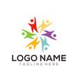 children logo and icon design vector image vector image