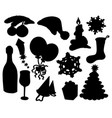 christmas silhouette collection 03 vector image