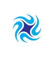 circle swirl spin logo vector image vector image