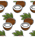 coconut thailand nut seamless pattern exotic food vector image vector image