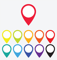 Color map pointer vector image vector image