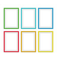 colorful photo frames vector image