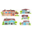 country house cottage bungalow villa mansion vector image vector image