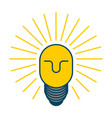 creative idea smart boss man with light bulb in vector image vector image