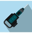 Electric jackhammer flat icon vector image