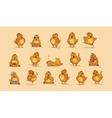 Emoji character cartoon Hen vector image vector image