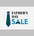 fathers day sale banner on wooden background vector image vector image