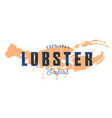 fish silhouettede sign lobster emblem vector image vector image