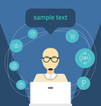 flat Online shopping concept Man with comp vector image vector image
