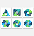 geometric elements for infographic vector image vector image