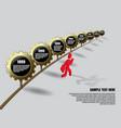 golden gears infographics vector image vector image