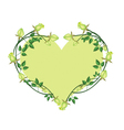 Green Roses Flowers in A Heart Shape vector image