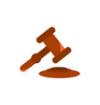 hammer law legal business finance vector image