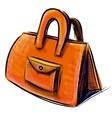 Hand bag isolated on white vector image