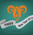 holidays new year 2015 goat vector image