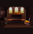 interior captain cabin on pirate ship vector image