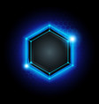 metal cyber hexagon technology background vector image vector image