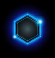 metal cyber hexagon technology background vector image vector image