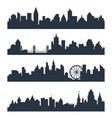 modern cityscape city silhouette vector image