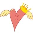 pink heart cartoon vector image