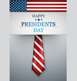 presidents day in usa background national vector image vector image