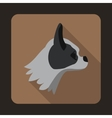Pug dog icon flat style vector image vector image