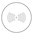 radio signal the black color icon in circle or vector image