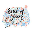 sale banner end year sale hand drawn vector image vector image