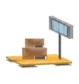 scale weight boxes delivery cargo vector image vector image
