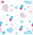 seamless pattern with ice cream - pastel colors vector image vector image