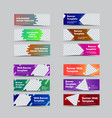 set horizontal web banners with place for vector image