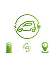 set of icons electric car electric vehicle vector image vector image