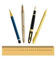 Set of stationery items vector image vector image