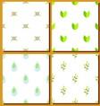 set seamless green vector image vector image