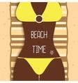 Sexy beautiful dark-skinned girl in bikini Young vector image vector image