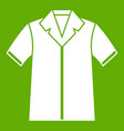 shirt polo icon green vector image vector image
