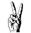 simple victory hand gesture vector image vector image
