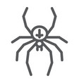 spider line icon animal and arachnid halloween vector image
