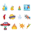 Super human special power icons flat design vector image vector image
