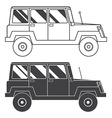 Suv Jeep Outline and Thin Line Icon vector image vector image