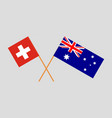 the australian and swiss flags vector image vector image