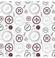 Vintage buttons sew seamless pattern vector image vector image