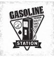 vintage filling station emblem design vector image vector image