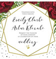 wedding floral stylish invite card design vector image vector image