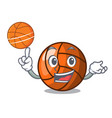 with basketball volleyball character cartoon style vector image
