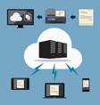 big data cloud document storage vector image