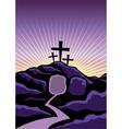 Easter Calvary Scene vector image