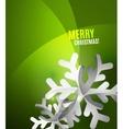 Modern Abstract Christmas Card vector image