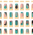 Pattern with various of nail designs vector image